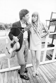 Uncredited Photographer    Leonard Cohen and Joni Mitchell, Newport Folk Festival      1965