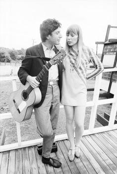 Uncredited Photographer    Leonard Cohen and Joni Mitchell, Newport Folk Festival      1965