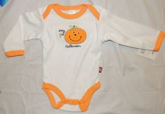 NEW Unisex Baby My First Halloween One Piece Size 0-3M Jack O Lantern, Pumpkin  #BabyGear