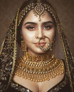 Perfect finishing to a bridal look is given by stunning nose rings! Book the best makeup artist now with BookEventZ to get the perfect bridal look on THE DAY! Indian Bridal Photos, Indian Bridal Jewelry Sets, Indian Bridal Outfits, Indian Bridal Makeup, Bridal Makeup Looks, Indian Bridal Fashion, Bridal Looks, Bridal Jewellery Collections, Indian Jewelry