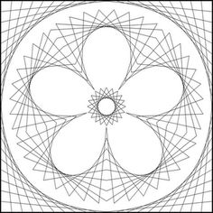 string art flower pattern