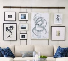 Updating your living room? Shop Pottery Barn for modern and classic living room ideas. Find living room furniture and decor and create the ultimate space. Cute Picture Frames, Picture Frame Crafts, Hanging Picture Frames, Photo Hanging, Picture Collages, Diy Picture Rail, Hanging Pictures On The Wall, Picture Frame Sets, Hanging Photos