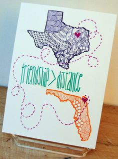 Custom Going Away Gift Hand Drawn for by StephMicheleArtworks: