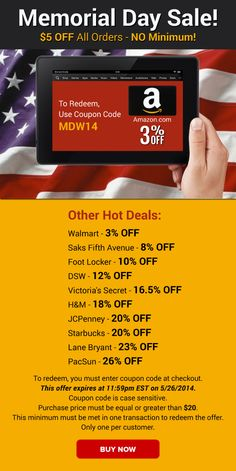 walmart memorial day coupon