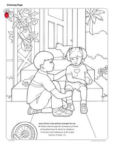 The Creation coloring page for kids! #bible #lds #