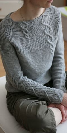 Baby Cables and Big Ones Too - pullover sweater