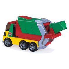 Ce camion poubelle promet de longues heures d'amusement. La cabine transparente s'ouvre par le haut et la poubelle peut être vidée à bord du conteneur grâce à un levier. Le jouet robuste de conception adapté aux petits enfants. Une fonction ludique réelle confère à ces véhicules une valeur de jeu élevée, en intérieur comme en extérieur. Les pneus souples soulignent la qualité supérieure de ce jouet.