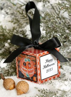 Happy Halloween Personalized Photo Block by thefaithfulacorn, $18.00