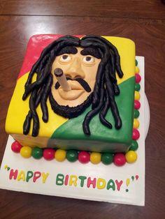 Bob Marley Birthday Cake By Myrnas Yummy Cakes My Yummy Cakes