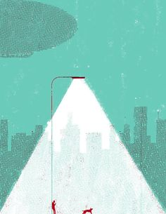 Selected Editorial Illustrations 2013 by Simone Massoni, via Behance