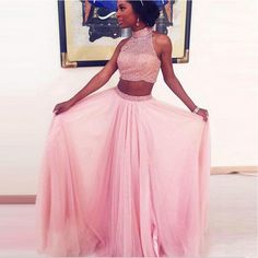 Sale Comely Sequin Prom Dresses, Pink Prom Dresses, Long Prom Dresses, Two Pieces Prom Dresses 2 Piece Formal Dresses, Two Piece Evening Dresses, Prom Dresses Long Pink, Pink Evening Dress, Princess Prom Dresses, Sequin Prom Dresses, Prom Dresses Two Piece, Prom Dresses 2017, Backless Prom Dresses