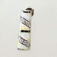 Wunderschöner 925er Silber Anhänger mit Feueropal, Rhodiniert !!
