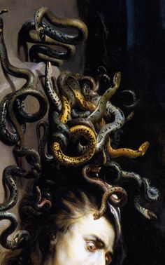 Peter Paul Rubens Flemish : Head of Medusa (detail) Medusa Art, Medusa Gorgon, Medusa Tattoo, Medusa Painting, Medusa Head, Peter Paul Rubens, Image Maker, Turn To Stone, Mythological Creatures