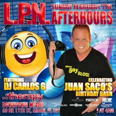 Every Saturday to Sunday Morning!!! La Puta Nota Afterhours with the Music of our Resident DJ Producer Carlos G!!! This week celebrating JANDY's Birthday Bash!!!