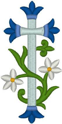 Vintage Ecclesiastical Cross Design 492 Embroidery Design