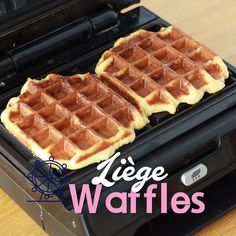 Go to Brussels to have the best waffles ever! Go to Brussels to have the best waffles ever! Easy Waffle Recipe, Waffle Iron Recipes, Liege Waffles Recipe, Belgian Liege Waffle Recipe, Leige Waffles, Delicious Desserts, Dessert Recipes, Yummy Food, Waffle Pops