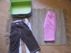montessori practical life. folding clothes.