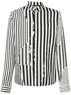 Haider Ackermann striped button down shirt
