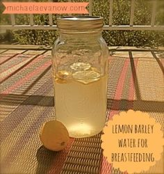 lemon barley water for breastfeeding