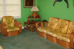 Tropical Bamboo Furniture Vintage | Rattan, Rattan, Rattan! A House Full of Vintage Rattan Furniture ...