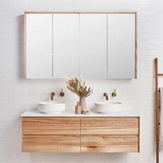 Loughlin Furniture Staples Tasmanian Oak Bathroom Vanity, Australia Wide — The Blue Space vanities Single Timber Bathroom Vanities, Timber Vanity, Wood Bathroom, Wood Vanity, Laundry In Bathroom, Bathroom Flooring, Oak Bathroom Cabinets, Bathroom Ideas, Oak Cabinets