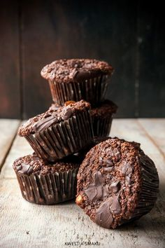 Muffiny czekoladowe bezglutenowe I Gluten free chocolate muffins