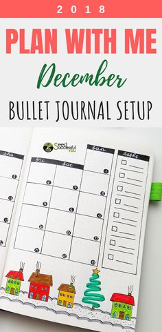 Plan With Me: My December 2018 Bullet Journal Setup Creating A Bullet Journal, Bullet Journal Set Up, Bullet Journal How To Start A, Bullet Journal Junkies, Bullet Journal School, Bullet Journal Layout, Bullet Journals, Journal Fonts, Bullet Journal Printables