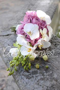 Lavender orchid  Wedding Bouquet  www.addyflorales.com