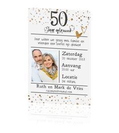 Sierlijke Uitnodiging Met Foto Voor 50 Jarig Huwelijk