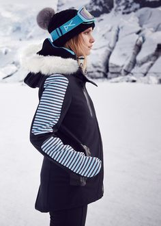 Insulating ski jackets and technical accessories never looked so sleek.