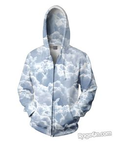 Clouds Zip-Up Hoodie - RageOn! - The World's Largest All-Over-Print Online Store
