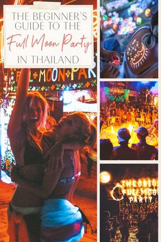Beginner's Guide Full Moon Party in Thailand Thailand Travel Tips, Asia Travel, Full Moon Party Thailand, Fire Dancer, That One Friend, Koh Tao, Cute Relationships, Dance The Night Away, Beautiful Islands