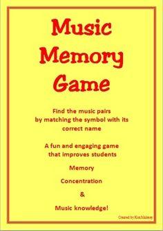 MEMORY GAME: Music Symbols