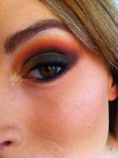 Hunger Games Makeup, gorgeous- or you could let me punch you... It'll give the same effect, but probs take less time