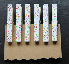 Decorated Clothes Pins Clothes Pins Decoupage by MapleLeafLane, $3.50