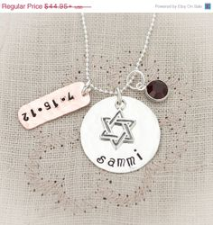 Black Friday Sale Bat Mitzvah Hand Stamped by TracyTayanDesigns, $42.70