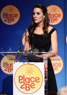 The Duchess of Cambridge said in a speech to people involved with Place2Be: 'It is because of so many of you, that in their time of need, children have the help, care and attention that will get them through tough times in their lives'