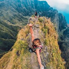 Top of Awa'awaphi Trail in Kauai. This is the hike we will accomplish when we go to Hawaii!