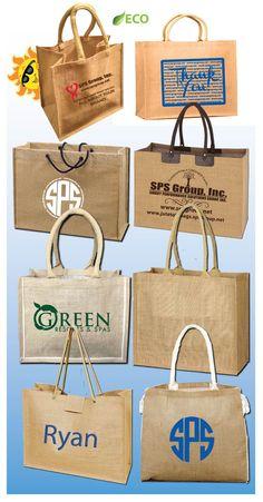 Jute Tote Bags, Burlap Totes Bags: Eco-Friendly totes custom printed