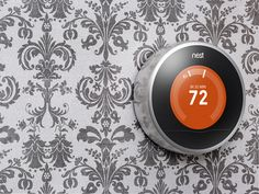 The new Nest Learning Thermostat looks beautiful on any wall.