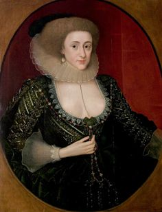 """Portrait of an Unknown Woman"", school of Marcus Gheeraerts the younger, ca. 1610; Shakespeare Birthplace Trust SBT 1993-31/302"