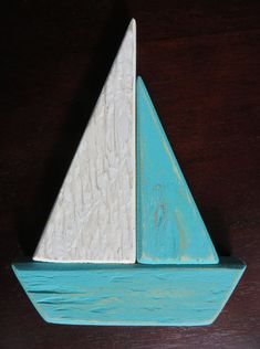 Wood Sailboat Nautical Wedding Decor Reclaimed by AlteredNature - Altered Nature - Welcome to the World of Decor! Wooden Decor, Wooden Wall Art, Wooden Diy, Wood Art, Wood Wood, Small Wood Projects, Craft Projects For Kids, Diy Pallet Projects, Wooden Toy Cars