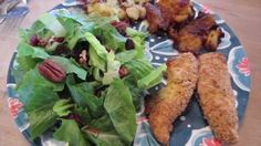 Pulled together an easy dinner on Saturday night after a busy week. Baked chicken breast with Italian bread crumbs, smashed potatoes and cranberry, pecan sal. Italian Bread, Baked Chicken Breast, Saturday Night, Pecan, Healthy Eating, Mom, Baking, Dinner, Easy