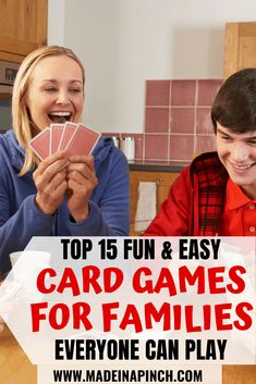 I am so excited for fun card games that aren't Go Fish! Ideas for the 15 best fun and easy card games that kids and adults can play together. These games make great gifts to buy and are the perfect addition to any home's game shelf. games for kids ideas Fun Card Games, Card Games For Kids, Playing Card Games, Fun Games, Games To Play, Dice Games, Home Games For Kids, Games For Toddlers, Activities For Kids