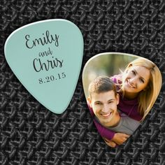 Your Wedding Guests will love this Photo Guitar Pick Wedding Favor, complete with your names & wedding date!