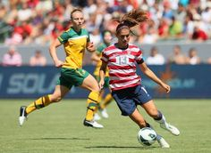 "Alex Morgan YESSS ""They had a lot of good opportunities in the first half, and there were a couple we were lucky,"" Morgan said. ""At the same time, I probably had five or six shots that just went wide. And finally in the second half I got it on frame and got it in."""