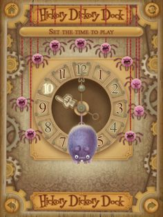 Tell Time with the iPad App 'Hickory Dickory Dock'. 3 games that teach how to tell time.  $2.99