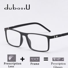 4c122f78be6 TR90 Prescription Glasses Men Fashion Rectangle Clear Computer Myopia  Optical Prescription Spectacles High Quality  MZ03