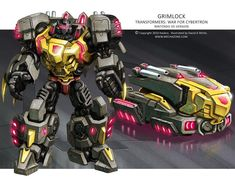 Concept art for the Nintendo DS version of Transformers: War for Cybertron. This was the fourth character I did for the game. I was contracted to make Transformers WfC: Grimlock Grimlock Transformers, Transformers Decepticons, Transformers Characters, Transformers Optimus Prime, Gi Joe, Transformers Generation 1, Fanart, Concept Art, Gundam