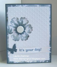 Blossom punch card - this DSP is perfect for this!